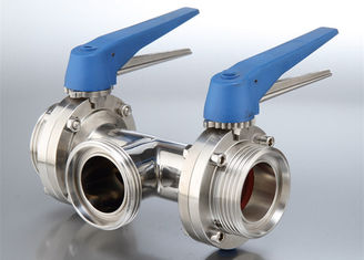 China Safety Hygienic Valves , Sanitary Stainless Steel Butterfly Valves With 580 Psi Maximum Pressure supplier
