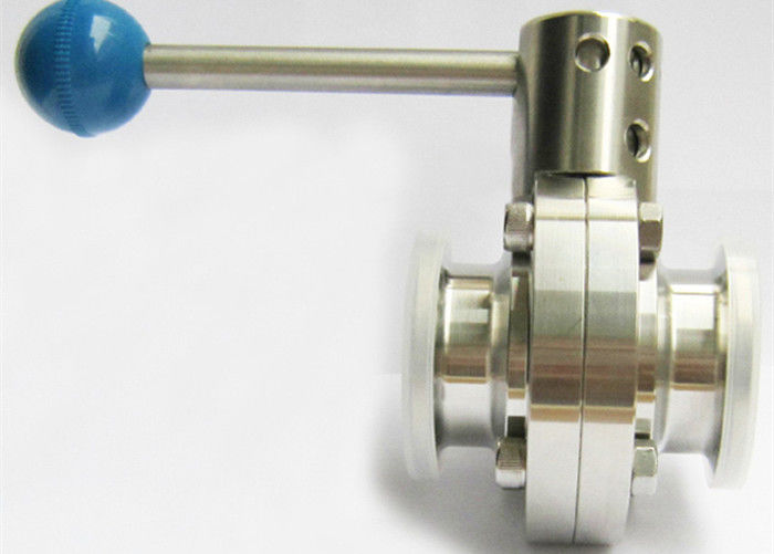 """1.5/"""" Sanitary Stainless Steel 316L Butterfly Valve Tri-Clamp Silicone Sealing"""
