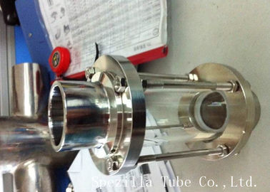 304 Stainless Steel 3A Sanitary Fittings Sight Glass For Chemical Industries