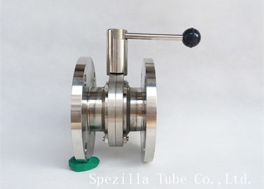 "China 3/4""X1.65mm 316 Stainless Steel Sanitary Valves , Hygienic Butterfly Valves factory"