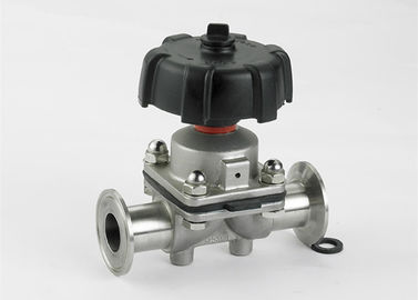 China Fast Assembly Sanitary Diaphragm Valves , TP 316L 3 Way Diaphragm Valve factory