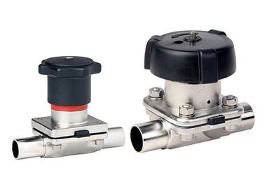 China Professional Sanitary Diaphragm Valves , SS Diaphragm Valve Clamp Ends factory