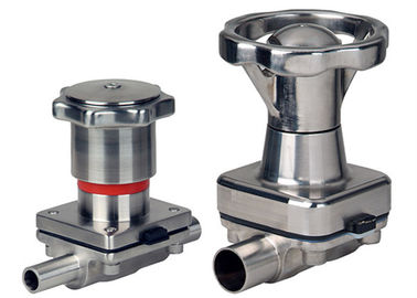 Pharmaceutical Manual Diaphragm Valve , Tri Clamp Diaphragm Valve Intelligently Designed