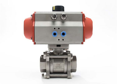 China Encapsulated Sanitary Electric Actuated Ball Valve With 3 Piece , Field Serviceable factory