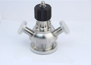 China Aseptic Sanitary Sample Valves With Rotary Handle / Key Handle ,  Longer Working Life factory