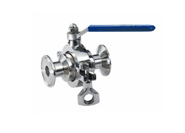 Non Retention Sanitary Ball Valves Small Operated Torque For Food / Pharmaceutical