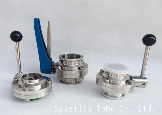 High Performance Sanitary Butterfly Valves 1 Inch For Dairy Precision Throttling
