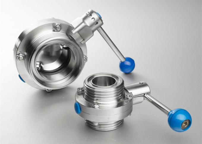 Safety Hygienic Valves , Sanitary Stainless Steel Butterfly Valves With 580 Psi Maximum Pressure